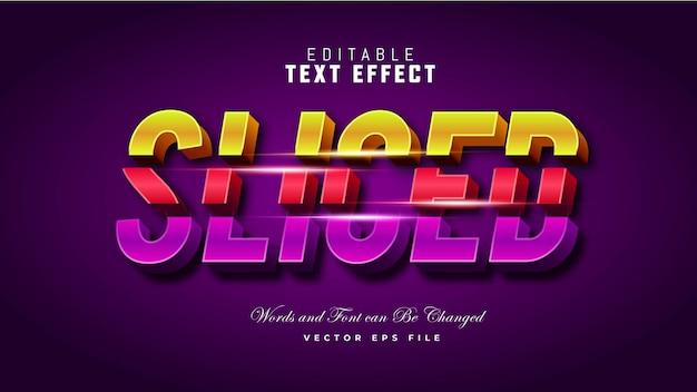Efeito de texto em fatias 3d