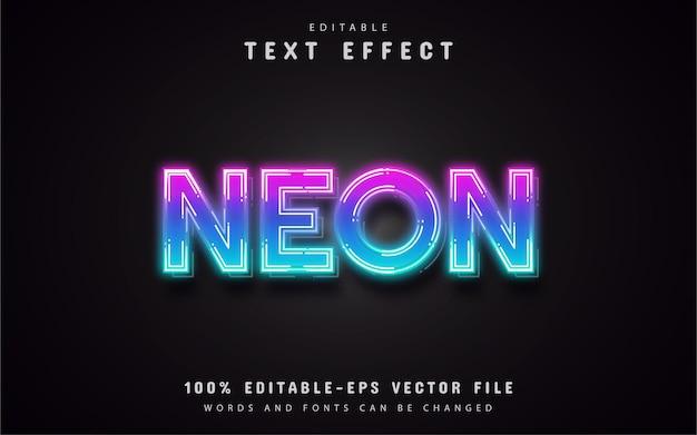 Efeito de texto em gradiente de néon