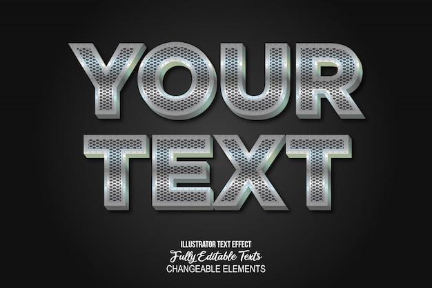 Efeito de texto em metal cromado 3d estilo gráfico