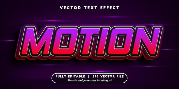 Efeito de texto em movimento com estilo de texto editável