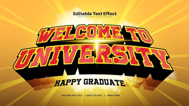 Efeito de texto em negrito da universidade