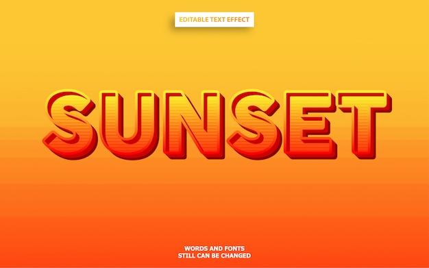 Efeito de texto em negrito de cor do sol