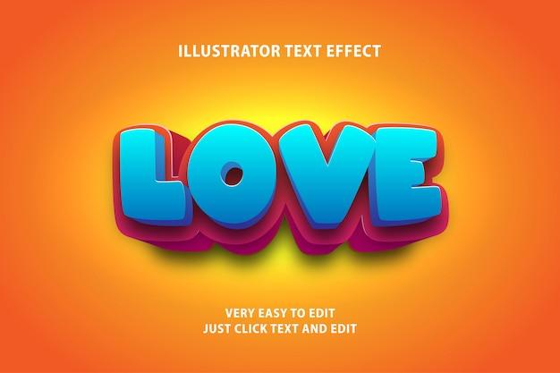 Efeito de texto em negrito forte dos desenhos animados 3d, texto editável