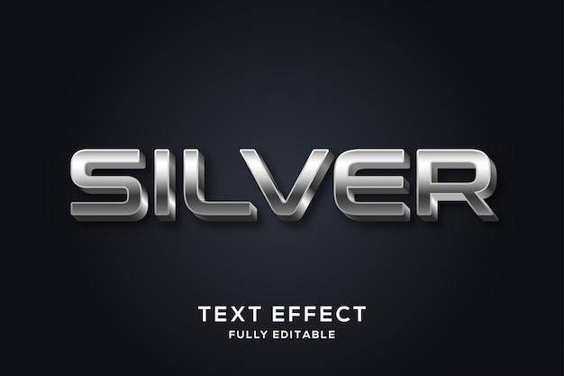 Efeito de texto em negrito moderno em prata