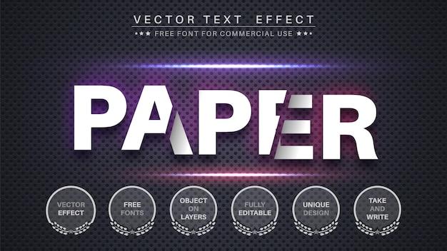 Efeito de texto em papel fatiado