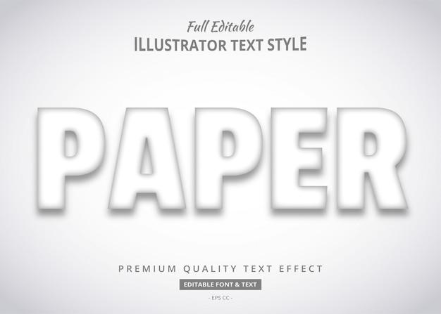 Efeito de texto em papel