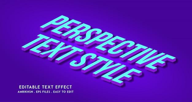 Efeito de texto em perspectiva 3d