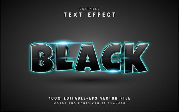 Efeito de texto em preto brilhante