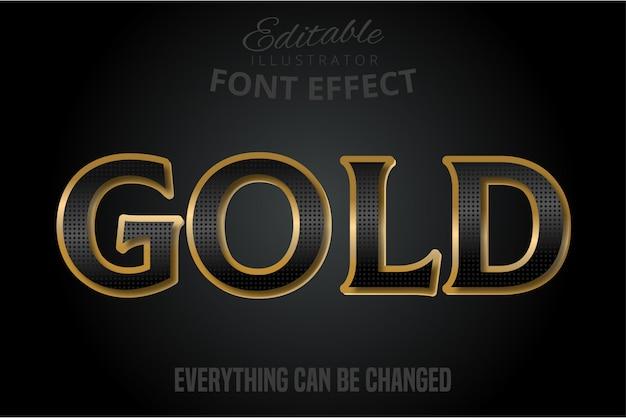 Efeito de texto em preto com extrusão de ouro