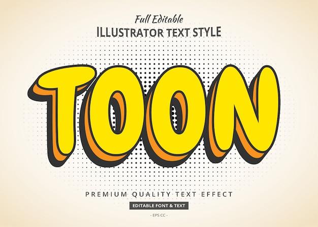 Efeito de texto em quadrinhos de desenhos animados