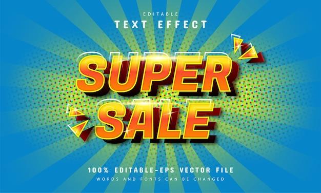 Efeito de texto em quadrinhos de super vendas