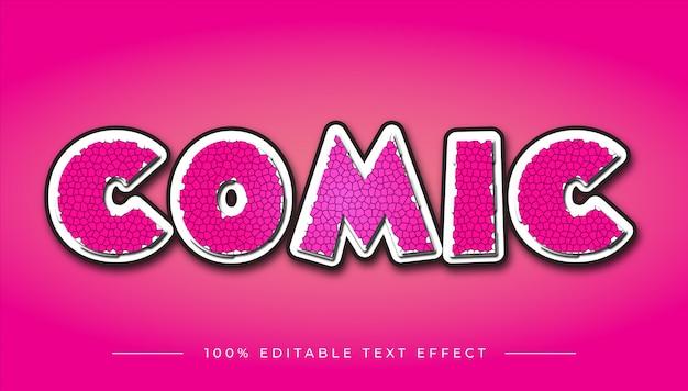 Efeito de texto em quadrinhos desenhos animados