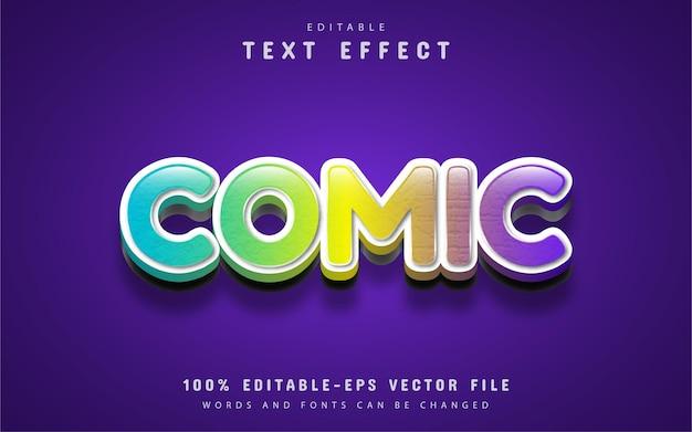 Efeito de texto em quadrinhos editável