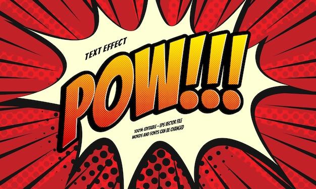 Efeito de texto em quadrinhos pow