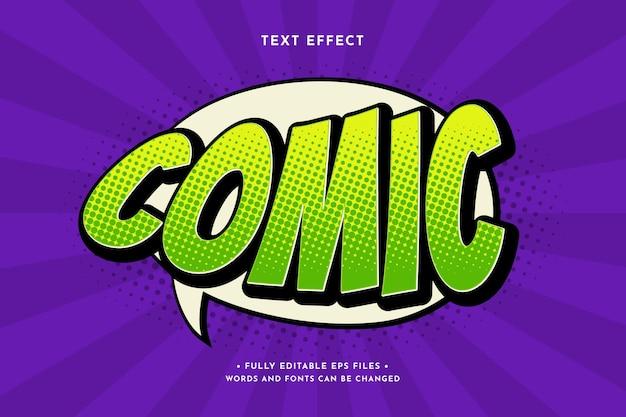 Efeito de texto em quadrinhos retrô