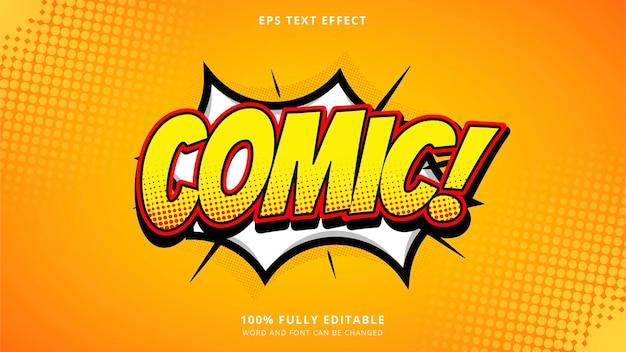 Efeito de texto em quadrinhos vetoriais editáveis eps cc