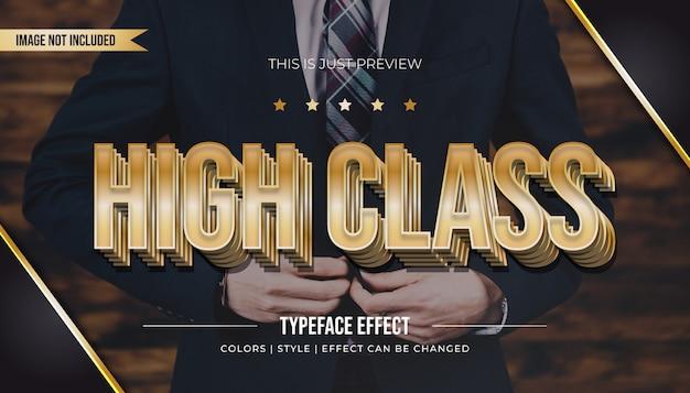Efeito de texto em relevo com gradiente dourado de luxo