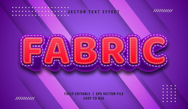 Efeito de texto em tecido 3d, estilo de texto editável