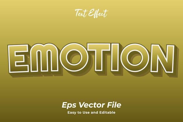Efeito de texto emoção editável e fácil de usar vetor premium