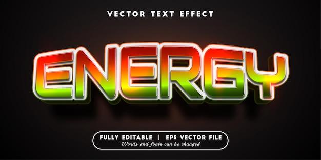 Efeito de texto energético com estilo de texto editável