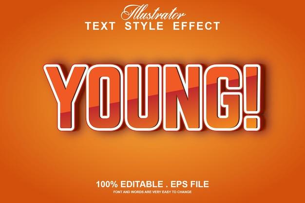 Efeito de texto envelhecido editável isolado em laranja