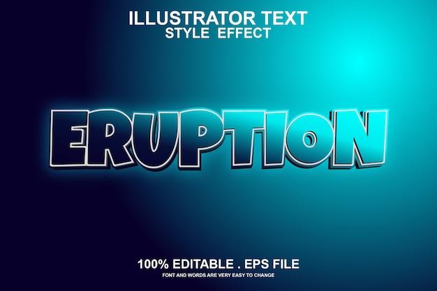 Efeito de texto erupção editável