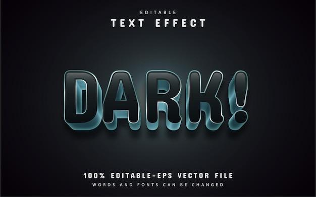 Efeito de texto escuro editável