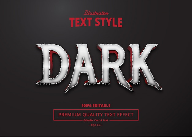 Efeito de texto escuro