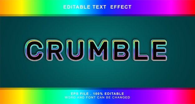 Efeito de texto esfarelado editável