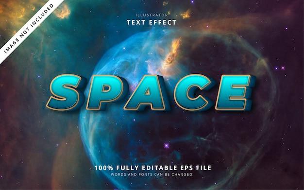 Efeito de texto espacial