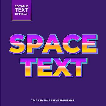 Efeito de texto espaço retrô
