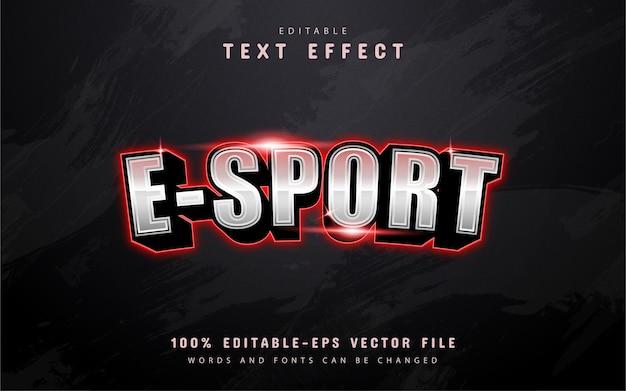Efeito de texto esport moderno com luz vermelha