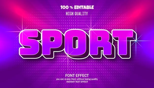 Efeito de texto esportivo, fonte editável