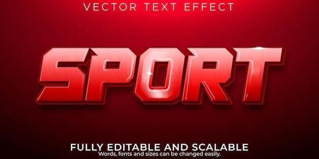 Efeito de texto esportivo