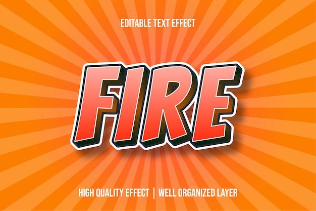 Efeito de texto estilo fogo vermelho