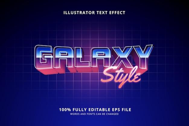 Efeito de texto estilo galáxia