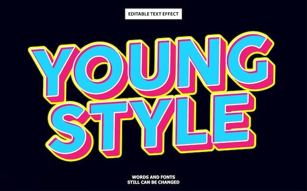 Efeito de texto estilo jovem