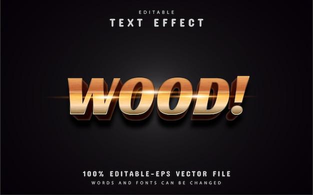 Efeito de texto estilo madeira