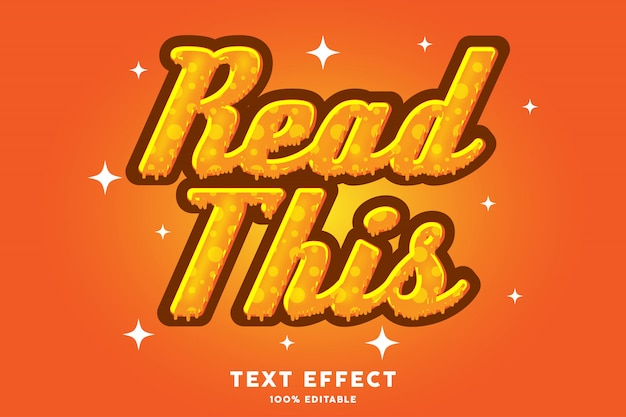 Efeito de texto estilo mel