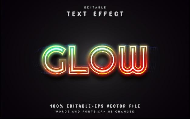 Efeito de texto estilo néon brilhante
