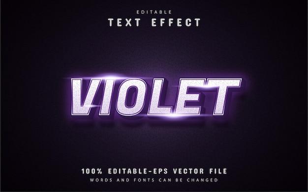 Efeito de texto estilo neon violeta