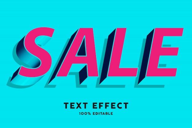 Efeito de texto estilo pop azul vermelho e ciano