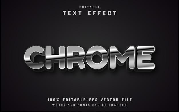Efeito de texto estilo prateado editável