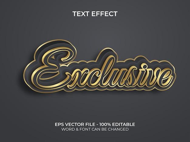 Efeito de texto exclusivo estilo dourado efeito de texto editável