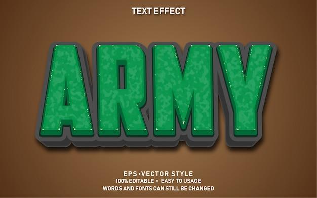 Efeito de texto exército