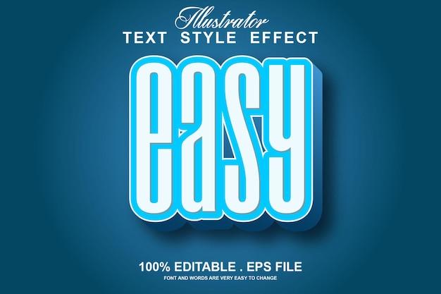 Efeito de texto fácil editável