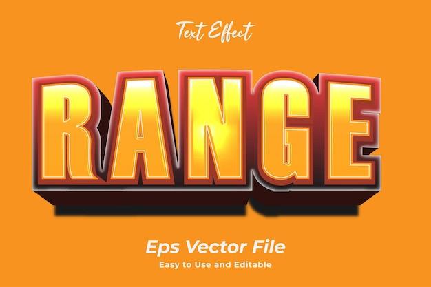 Efeito de texto faixa editável e fácil de usar vetor premium