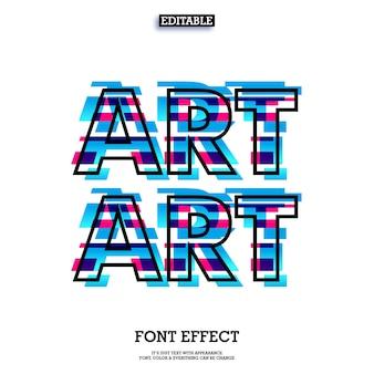 Efeito de texto falha com design de arte moderna olhar