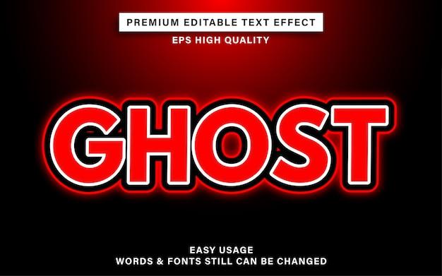 Efeito de texto fantasma