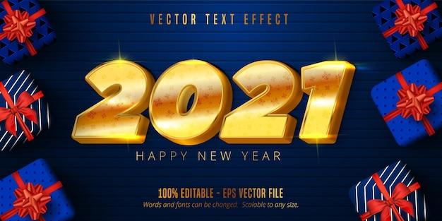Efeito de texto feliz ano novo